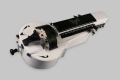 White and black MM Instrument Saphona hurdy gurdy