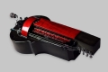 Black and red MM Instrument Saphona hurdy gurdy